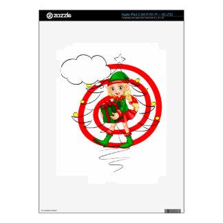 Un duende femenino de Santa iPad 3 Skins