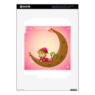 Un duende y una luna iPad 3 pegatinas skins