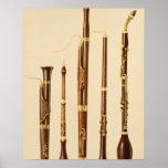 Un dulcian, un oboe, un bassoon, un caccia de DA d Póster