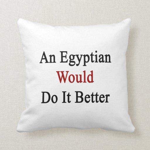 Un egipcio lo haría mejor almohadas