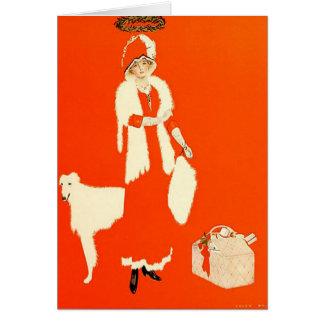 Un ejemplo 1911 de Navidad de Coles Phillips Tarjeta De Felicitación