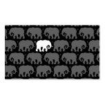 Un elefante blanco en una manada tarjeta personal