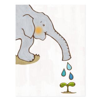 Un elefante feliz postales