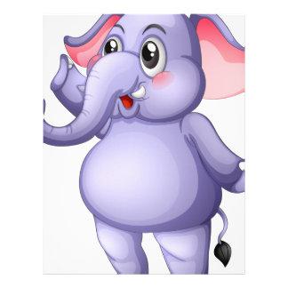 Un elefante gris joven membretes personalizados