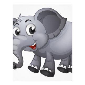 Un elefante gris membrete