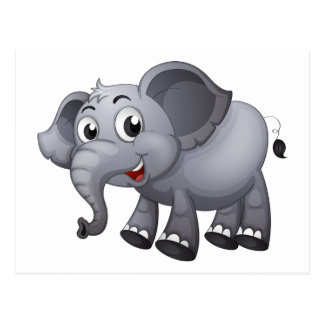 Un elefante gris tarjetas postales