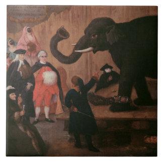Un elefante mostrado en Venecia (aceite en lona) Azulejo Cuadrado Grande