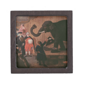 Un elefante mostrado en Venecia (aceite en lona) Cajas De Regalo De Calidad