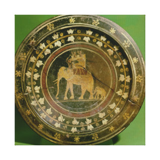 Un elefante usado en guerra contra impresión en lienzo