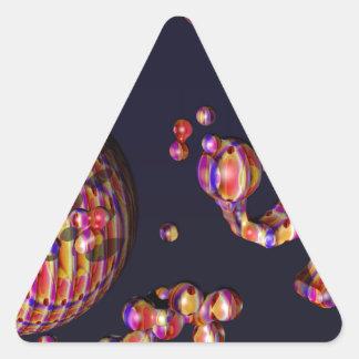 Un elefante y su Bubbles.png Pegatina Triangular