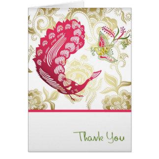 Un elegante le agradece tarjeta de felicitación
