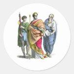 Un emperador romano antiguo pegatina redonda