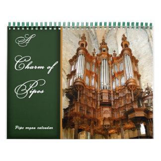 Un encanto del calendario del órgano de tubos