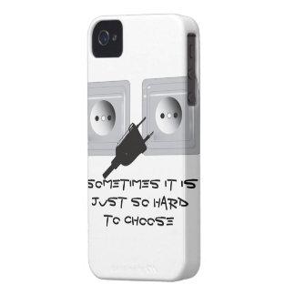 Un enchufe iPhone 4 Case-Mate cárcasa