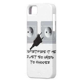 Un enchufe iPhone 5 carcasa
