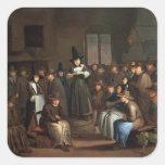 Un encuentro de los Quakers Pegatina Cuadrada