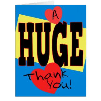 UN ENORME le agradece la extra grande 8 x 10 Tarjeta De Felicitación Grande