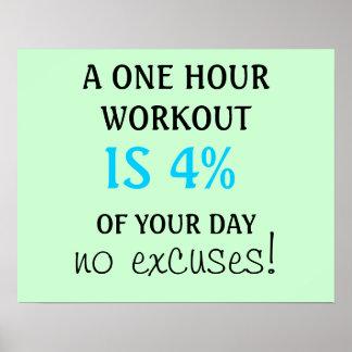 Un entrenamiento de 1 hora es el 4% de su poster d