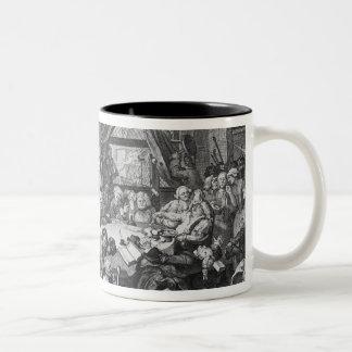 Un entretenimiento de la elección, 1755 taza de café de dos colores