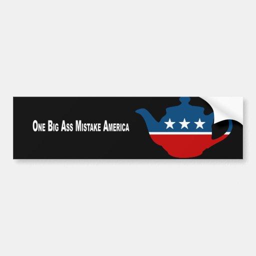 Un error grande América del asno Pegatina De Parachoque