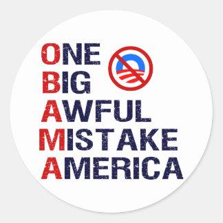 Un error tremendo grande, América Pegatina Redonda