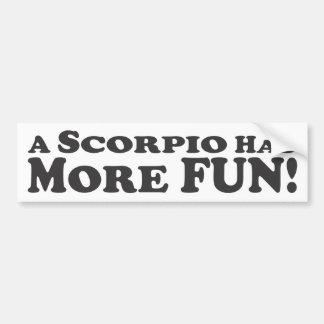 ¡Un escorpión se divierte más! - Pegatina para el  Pegatina Para Auto