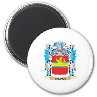 Un escudo de armas más salvaje - escudo de la imán redondo 5 cm