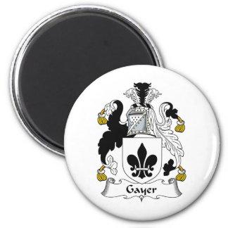 Un escudo más alegre de la familia imán redondo 5 cm