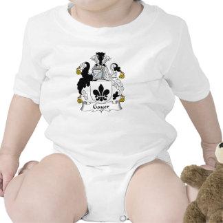 Un escudo más alegre de la familia traje de bebé
