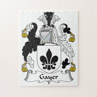 Un escudo más alegre de la familia puzzle con fotos
