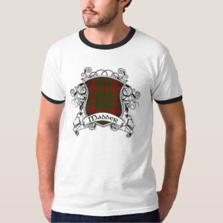Un escudo más enojado del tartán remeras