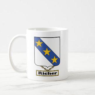 Un escudo más rico de la familia taza