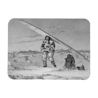 Un Eskimaux de Igloolik, llevando un jacke de la p Iman De Vinilo