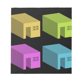 Un espacio incluido con aberturas bloc de papel