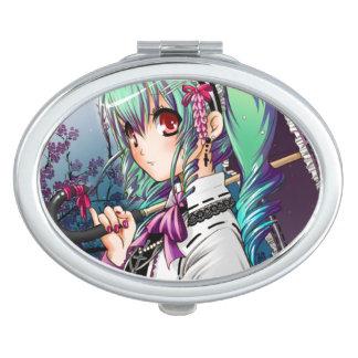 Un espejo gótico Manga del acuerdo de la noche Espejo Para El Bolso
