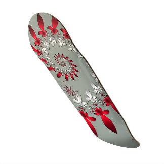 Un espiral del copo de nieve skate board