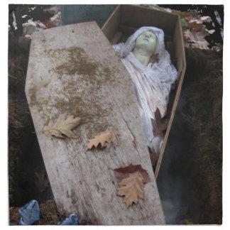 Un espíritu necrófago grave el Halloween - fotogra Servilletas Imprimidas
