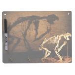 Un esqueleto animal en museo pizarras