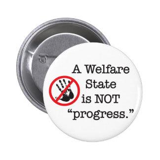 Un estado del bienestar no es progreso pin redondo 5 cm