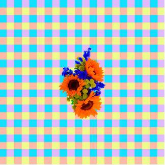 Un estampado de plores a cuadros de Sun del trullo Fotoescultura Vertical
