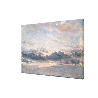 Un estudio de la nube, puesta del sol, c.1821 (ace lienzo envuelto para galerías