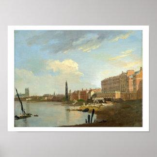 Un estudio del Thames con los estadios finales del Posters