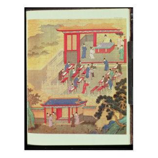 Un examen público chino antiguo postales