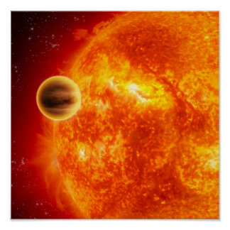 Un exoplanet gas-gigante posters