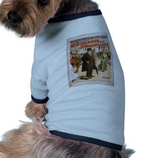 Un extranjero en un teatro retro de la tierra extr camisetas de mascota