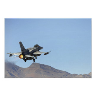 Un F-16E de los United Arab Emirates Póster
