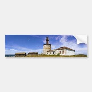Un faro en el islote de Keri, Estonia Etiqueta De Parachoque