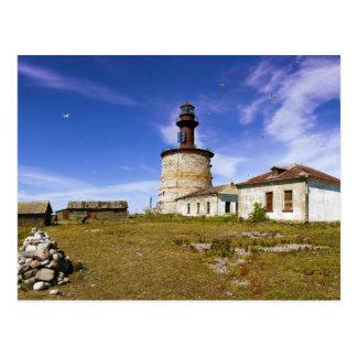 Un faro en el islote de Keri, Estonia Tarjetas Postales