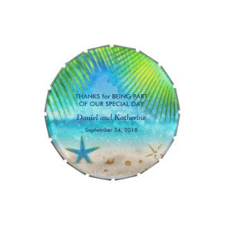Un favor del boda de playa del verano latas de caramelos