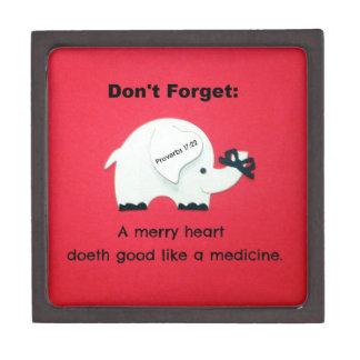 Un feliz corazón Doeth bueno como una medicina Cajas De Recuerdo De Calidad